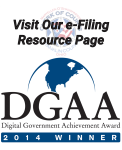 2014 Winner of the Digital Government Achievement Award